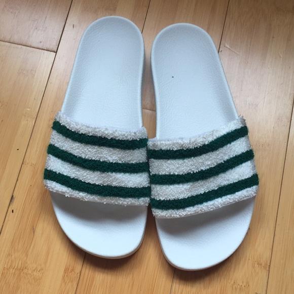 2dfc6b7b580e5 adidas Shoes - Adidas Terry cloth slides size 11 ladies 9 men s